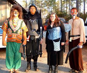 LARPs can include a range of monsters, beasts and fantastic characters.