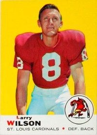 """Larry Wilson, defensive back for the St. Louis Cardinals, was known as """"the toughest player in the NFL."""" See more pictures of football stars."""