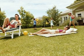Lawn games will keep the kids entertained at the next outdoor party. You can make your own too.