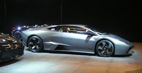 The Reventon's Grey Barra hue paint is a completely new color specially developed by the designers at Lamborghini.