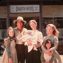 """The """"Little House"""" books were turned into a popular '70s TV drama starring Melissa Gilbert as Laura Ingalls (left)."""