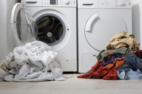 Don't take up space at the laundromat sorting your dirty clothes. Do that at home before you head out.