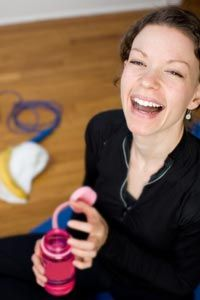 Is her laughter a post-workout release or the workout itself? See more staying healthy pictures.