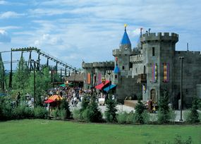 A castle in the Deutschland, Germany LegoLAND Park, now owned by Merlin Entertainments Group.