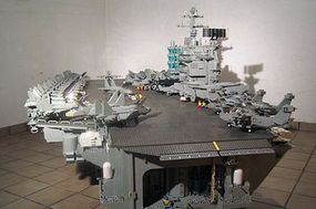 Malle Hawking's minifig-scale aircraft carrier.