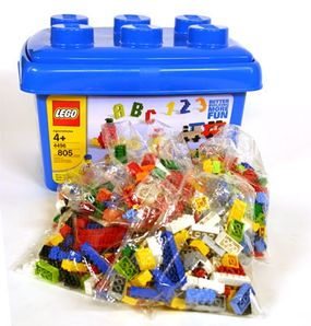 LEGO testing and packaging involves drop, torque, tension, compression, bite and impact tests.  Read more about how LEGO toys are tested and packaged.