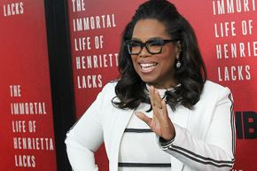 Oprah Winfrey attends 'The Immortal Life Of Henrietta Lacks' New York premiere on April 18, 2017  — just one of the many left-handed millionaires out there.