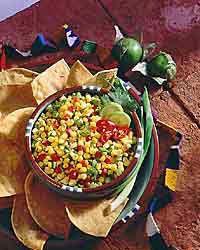 Corn and Tomatillo Salsa