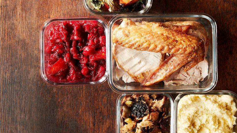 leftover Thanksgiving dinner