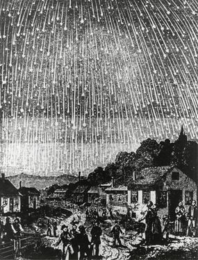 illustration of 1833 leonid meteor shower