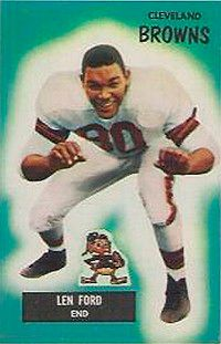 Len Ford lead the Browns to a 30-28 win in the 1950 championship game. See more pictures of football players.