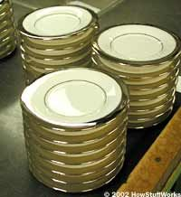 The metal rims shown here can be applied by machine.