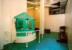 Execution-witnessing area at San Quentin State Prison in California