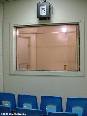 The witness room at Central Prison in Raleigh, N.C.