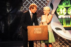 After their eyebrow-raising interview, David Letterman and Madonna appeared together as presenters on the 1994 MTV Movie Awards.