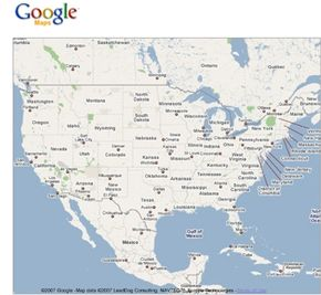 Google maps is an example of an API.