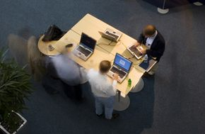 New technology allows business professionals to use software programs.