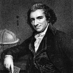 """Early libertarian and """"Common Sense"""" author Thomas Paine."""