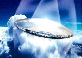 Microwave-powered lightcraft will rely on orbiting power stations.