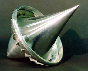 An early model of a laser-propelled lightcraft
