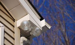 Bright, motion-controlled lights are a popular way to add some security to your home.