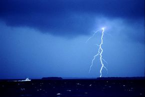 Lightning has the ability to strike a house or near a house and impart an electrical charge to the metal pipes used for plumbing.