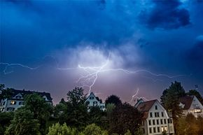 Even though being inside is far better than being outside during a lightning strike, you still want to keep away from things that conduct electricity indoors.