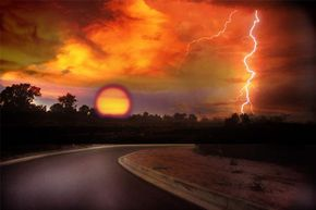 Lightning can also strike when the sun is out.