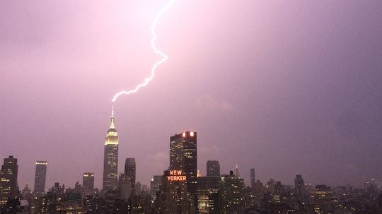 Does lightning really never strike the same spot twice?