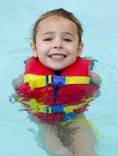 Life jacket fit can be tested in shallow water, like a swimming pool