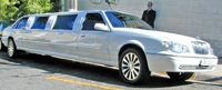 Stretch limousines like this one are popular choices for people going to formals, dances and weddings.