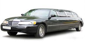 A classic stretch limousine
