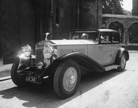 Rolls-Royce cars like this one were often used as limousines.