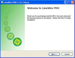 LimeWire provides a gateway for users to share software and music.