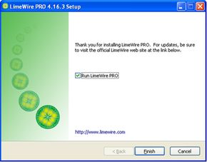 LimeWire Pro offers advanced features and technical support.
