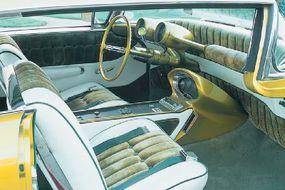 Bud Millard restored the interior of the Limelighter which still sports the original 1950 Nash instrument pods.
