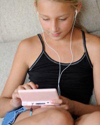 Handheld video games are addictive for tweens.