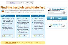 LinkedIn recruiter page