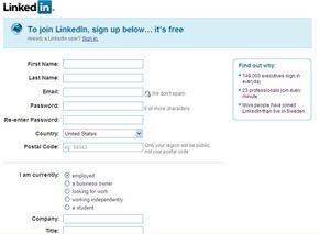 LinkedIn basic information page