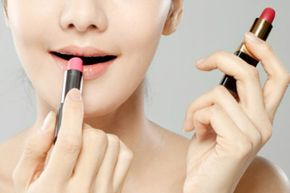 Makeup Tips Image Gallery Lip stain and lipstick both add color to your pout, but they do so in very different ways. See makeup tips and pictures.