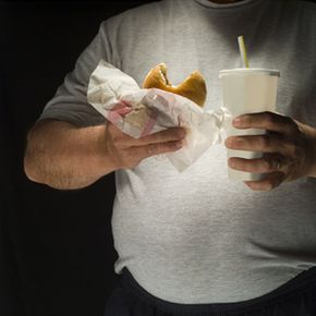 Lipitor should be combined with a healthy diet, unlike the one seen in this photograph.