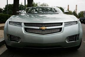 Image Gallery: Hybrid Cars The Chevrolet Volt, a plug-in hybrid designed to run up to 40 miles on a lithium-ion battery pack. See more hybrid car pictures.