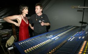 Live sound engineers often consult with performers regarding the mix like Alanis Morissette and her engineer.