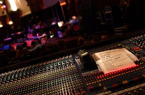 Sound engineers use mixing boards, and performers like Cyndi Lauper may give them a set list.