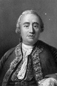 David Hume's philosophy stressed sensory experience over inherent rationlism.