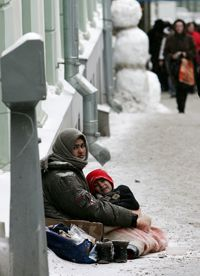 In Moscow, five people died of hypothermia in a 24-hour period on January 31, 2007.