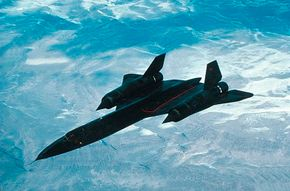 The Lockheed SR-71 Blackbird (so named for its heat-resistant black paint) first flew in 1964, and since that time it has remained the world's fastest aircraft. Tanks in the inner wings and upper fuselage carry the 80,000 pounds of special, superheated fuel. See more military jets pictures.