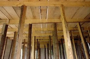 If you knock out one of those beams, the whole wall will come crashing down. Or will it? Check out more home construction pictures!