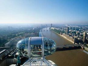 The 25-mile view from the London Eye