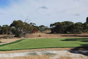 A hole at Nullarbor Links in Australia, the world's longest golf course.